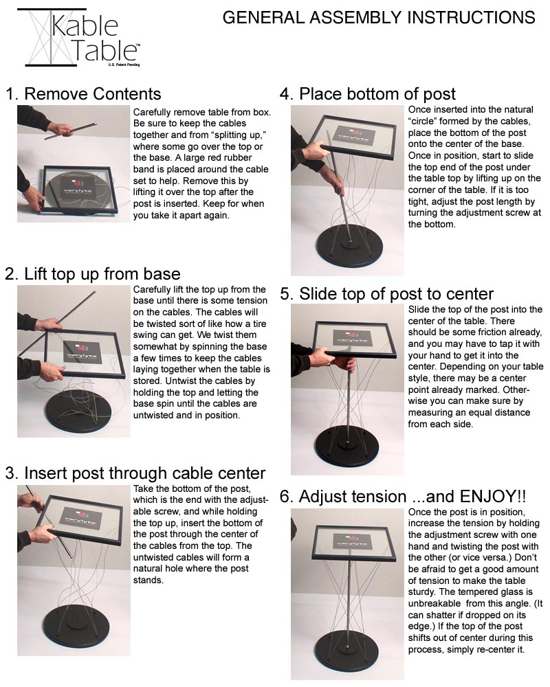 Kable Table Assembly - Instructions